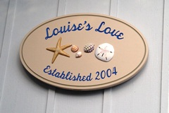 Louise Beach House Sign close