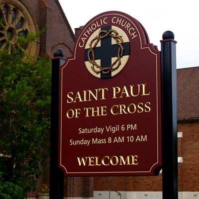 St Paul Handcrafted Church Sign