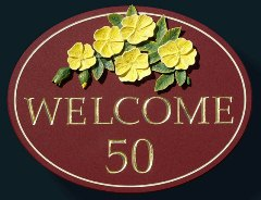 House Number 50 - Welcome Sign