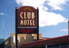 Carved Club Sign