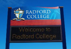 School Sign with LED Display